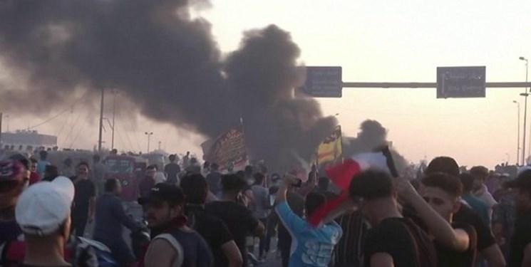 تجمع مردمی عراق تجمع اعتراضی مردم عراق فتنه عراق آشوب در عراق 1398