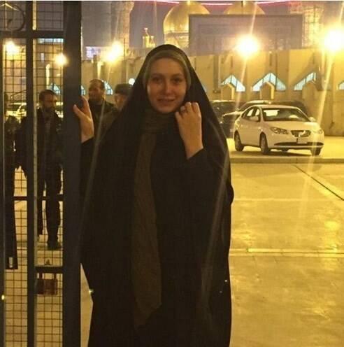 حضور فریبا نادری در راهپیمایی اربعین