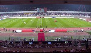 رفتار ناشایست هواداران بحرین هنگام پخش سرود ملی ایران