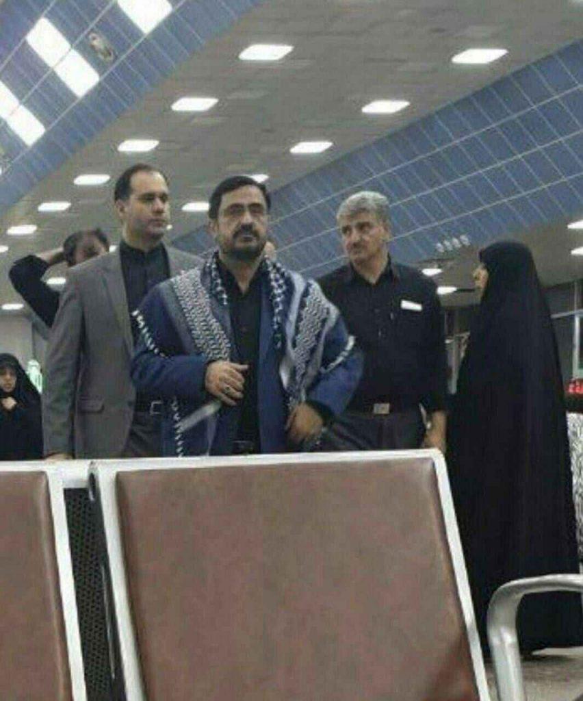 سعید مرتضوی در فرودگاه نجف. پیاده روی اربعین. زیارت کربلا