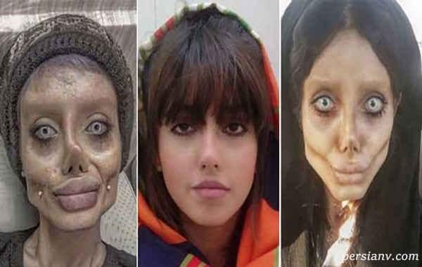 عکس جدید سحر تبر. سه فریم از سحر عروس مردگان یا آنجلینا جولی ایرانی