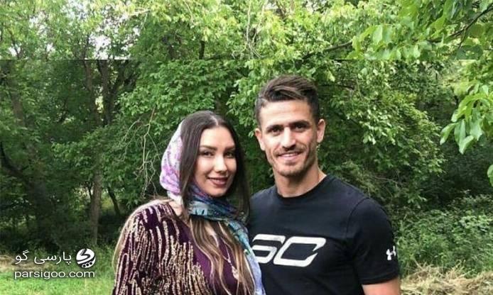 عکس جنجالی وریا غفوری در کنار همسرش