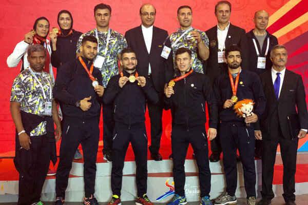قهرمانی تیم ملی ووشو ایران در چین