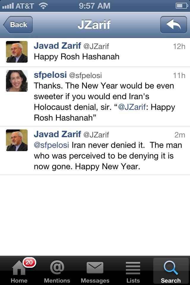 مردی که هولوکاست را انکار میکرد رفت محمد جواد ظریف