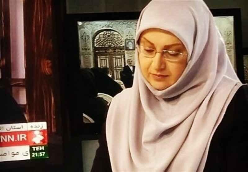 مژگان صارمی مجری و گوینده شبکه خبر و تلوزیون