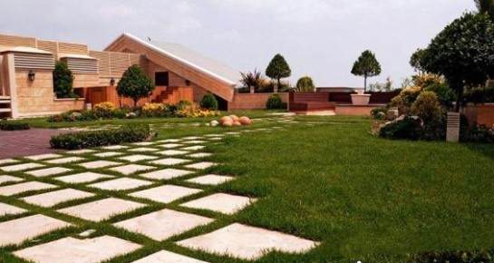 نمونه طراحی فضای سبز پشت بام زاویه دید
