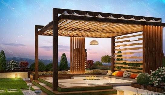 نمونه طراحی فضای سبز پشت بام طرح جدید