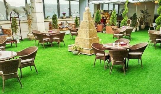 نمونه طراحی فضای سبز پشت بام مدل شلوغ