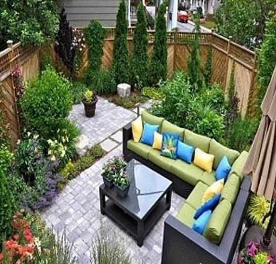 نمونه طراحی فضای سبز پشت بام نمای نزدیک