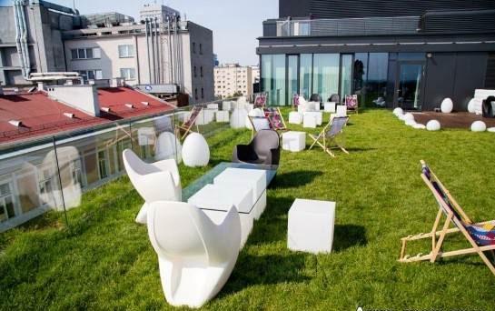 نمونه طراحی فضای سبز پشت بام نمونه جذاب
