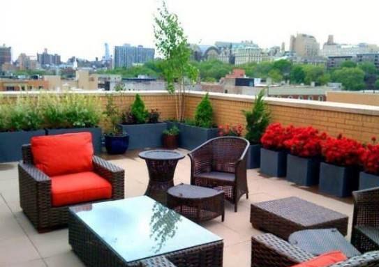 نمونه طراحی فضای سبز پشت بام