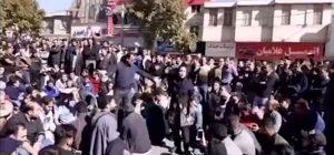 آشوبگران را از جمع خود خارج تجمع مردم همدان در اعتراض به گرانی بنزین