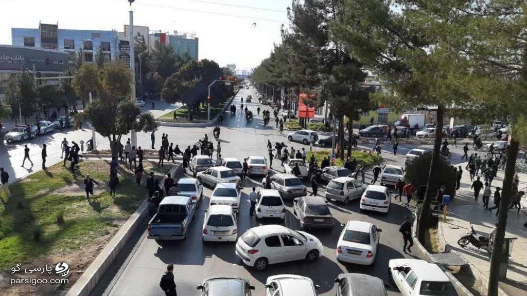 اعتراضات به گرانی بنزین در سرتاسر کشور