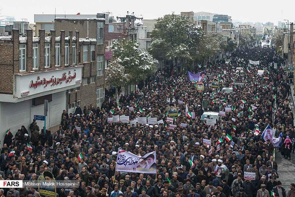 برائت مردم ایران از آشوبگران. آرامش در شهرها