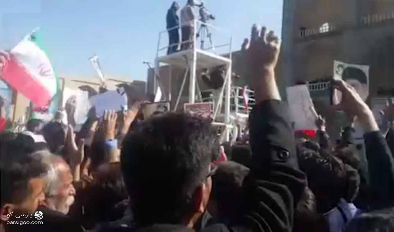 تورم گرانی جواب بده روحانی شعار اعتراضی مردم یزد