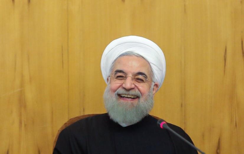 خنده روحانی خنده رئیس جمهور خنده حسن روحانی