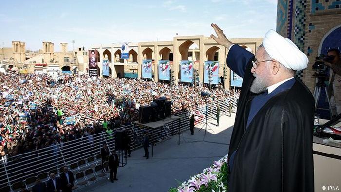 رئیس جمهور در یزد دکتر حسن روحانی در میدان امیرچخماق یزد