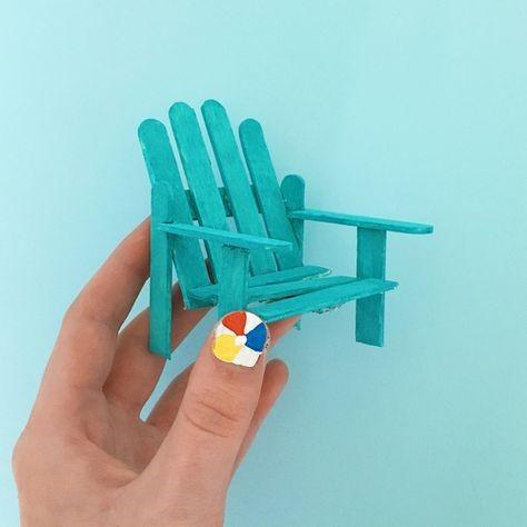 ساخت كاردستي صندلي با استفاده از چوب بستني