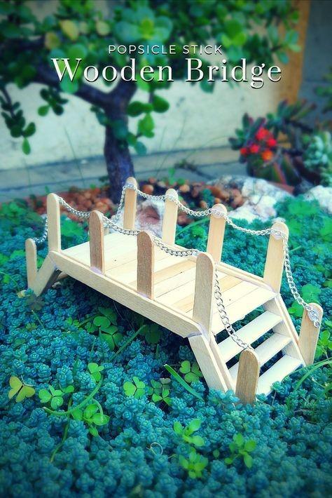 ساخت كاردستي پل با استفاده از چوب بستني