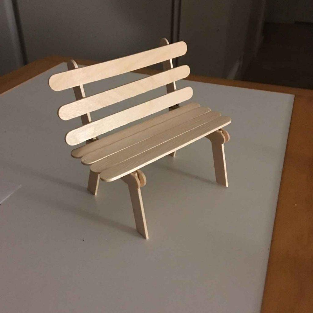 ساخت كار دستي صندلي با استفاده از چوب بستني