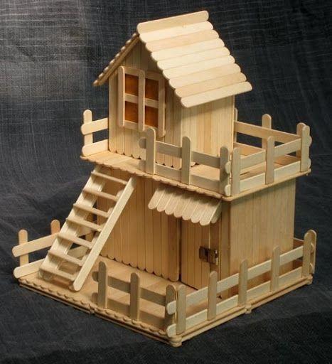 ساخت ماكت يا كاردستي خانه با استفاده از چوب بستني