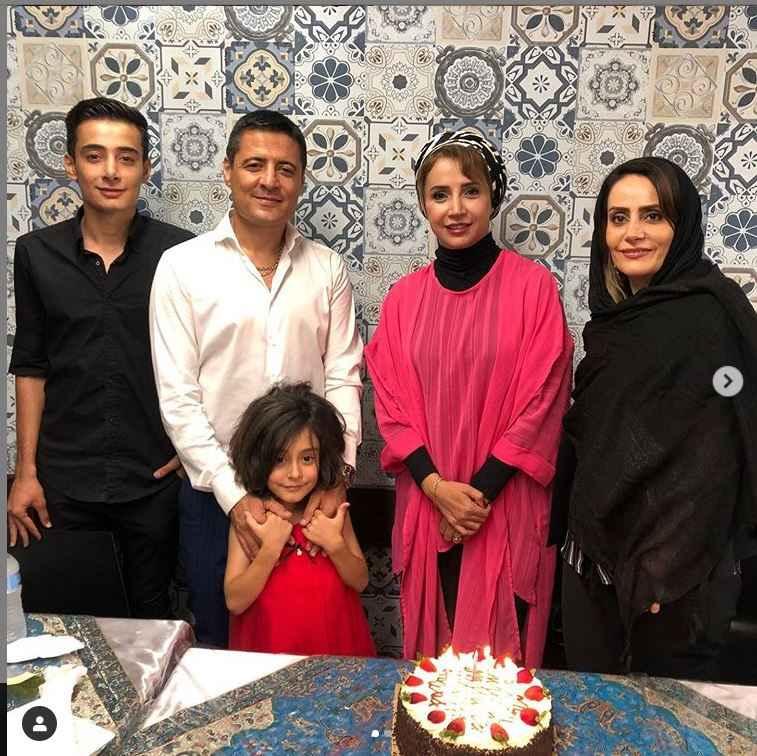 شبنم قلی خانی در کنار داور سرشناس کشورمان علیرضا فغانی و خانواده اش در استرالیا