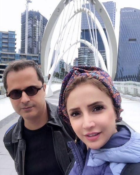 شبنم قلی خانی و همسرش در استرالیا
