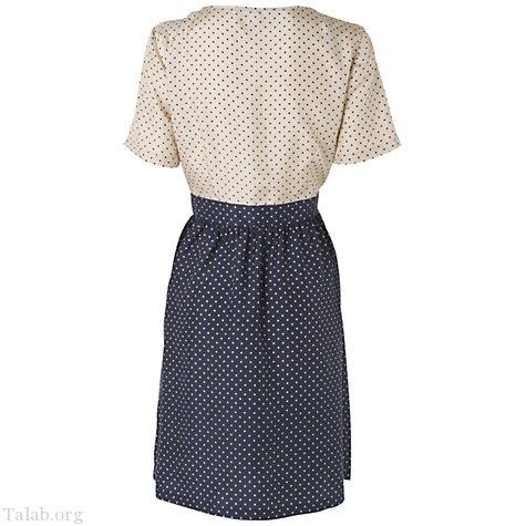 طرح لباس زنانه دو رنگ یقه