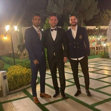 عروسی سیامک نعمتی بازیکن پرسپولیس با حضور هم تیمی هایش