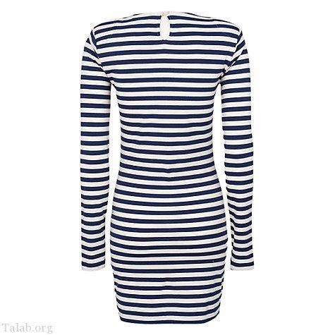 لباس مجلسی زنانه راه راه یقه