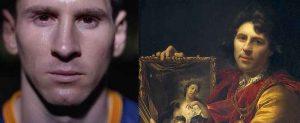 نقاشی قدیمی با چهره مسی شباهت