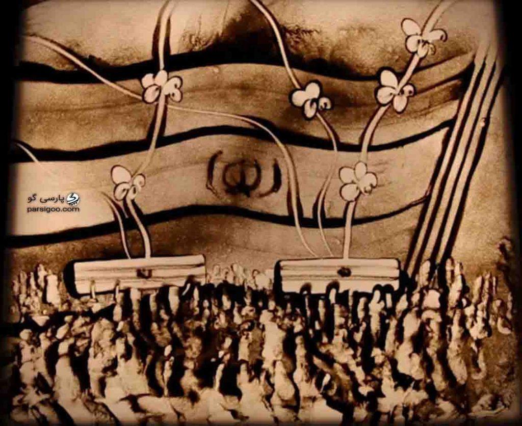 تازه ترین نقاشی فاطمه عبادی با موضوع شهدای مدافع امنیت کشور