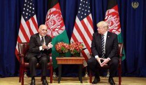 ترامپ و رئیس جمهور افغانستان