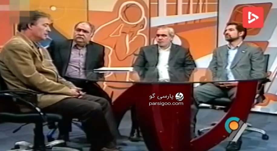 حضور ناصر حجازی و علی فتح الله زاده و فیروز کریمی در تلوزیون