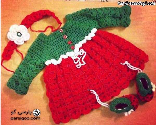 لباس یلدایی برای نوزاد