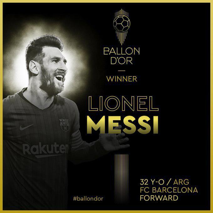لیونل مسی مرد سال فوتبال جهان شد