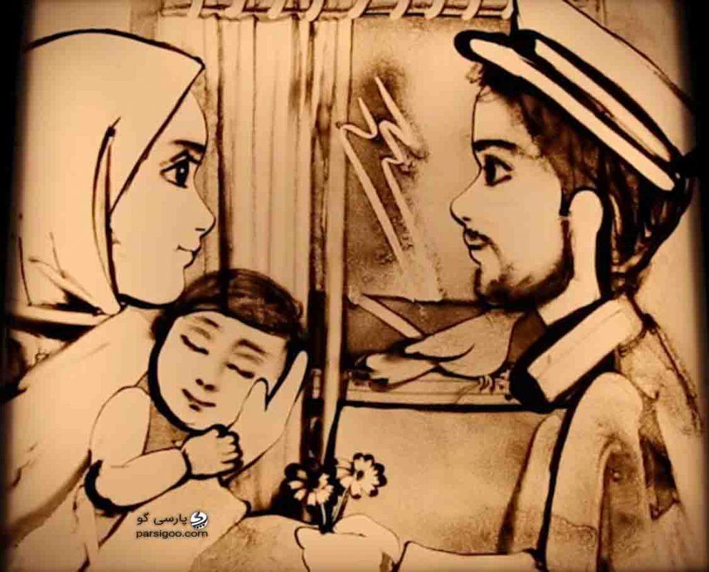 نقاشی فاطمه عبادی برای شهدای مدافع امنیت