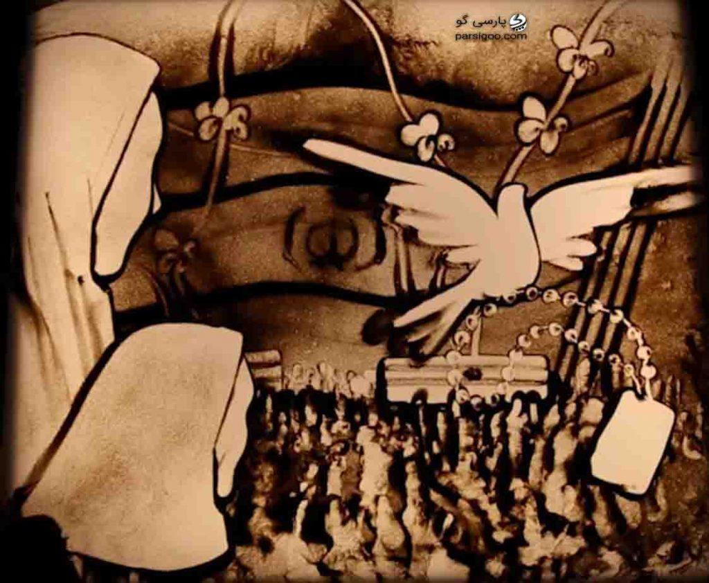 هنرنمایی جدید فاطمه عبادی با موضوع شهدای پاسدار امنیت