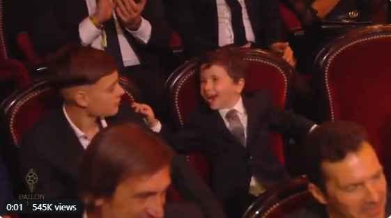 واکنش جالب فرزند لیونل مسی به انتخاب پدرش برای جایزه توپ طلا