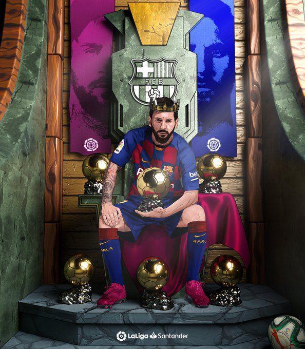 واکنش صفحه رسمی لالیگا بعد از انتخاب لیونل مسی به عنوان بهترین بازیکن حهان