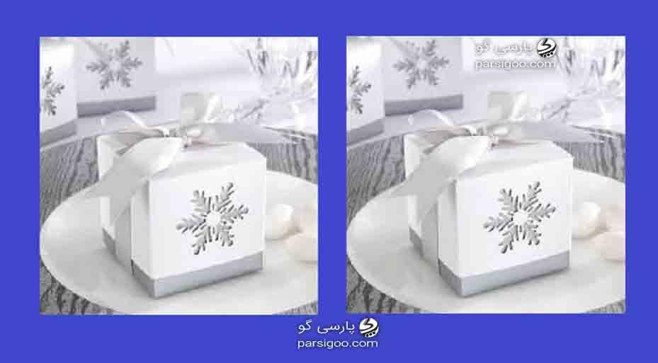 کادو کردن هدیه با مدل مکعب مربع