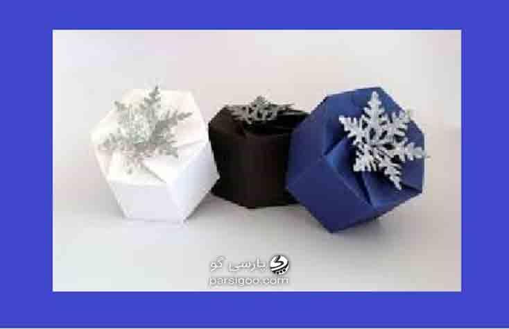 کادو کردن هدیه به صورت شش ضلعی یک تکه
