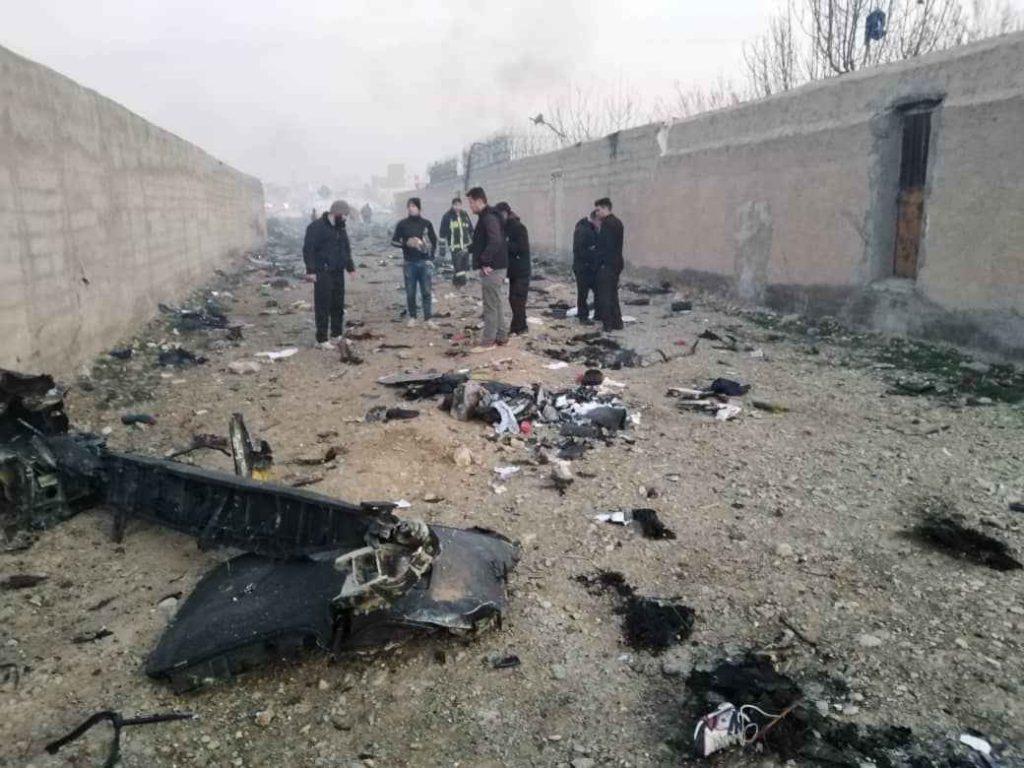 بخش های مختلف هواپیمای سقوط کرده اوکراینی