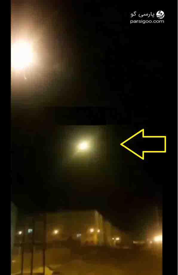 تصویری از فیلم مشکوک ضبط شده از لحظه اصابت موشک به هواپیما