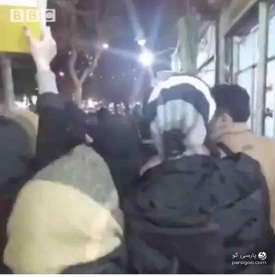 تصویر ویدئوی منتشر شده از تجمع اعتراضی در یزد 22 دی ماه 98
