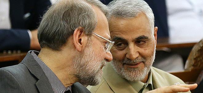 سردار سلیمانی و دکتر علی لاریجانی