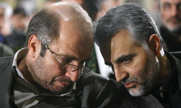 سردار قاسم سلیمانی در کنار دکتر محمد باقر قالیباف
