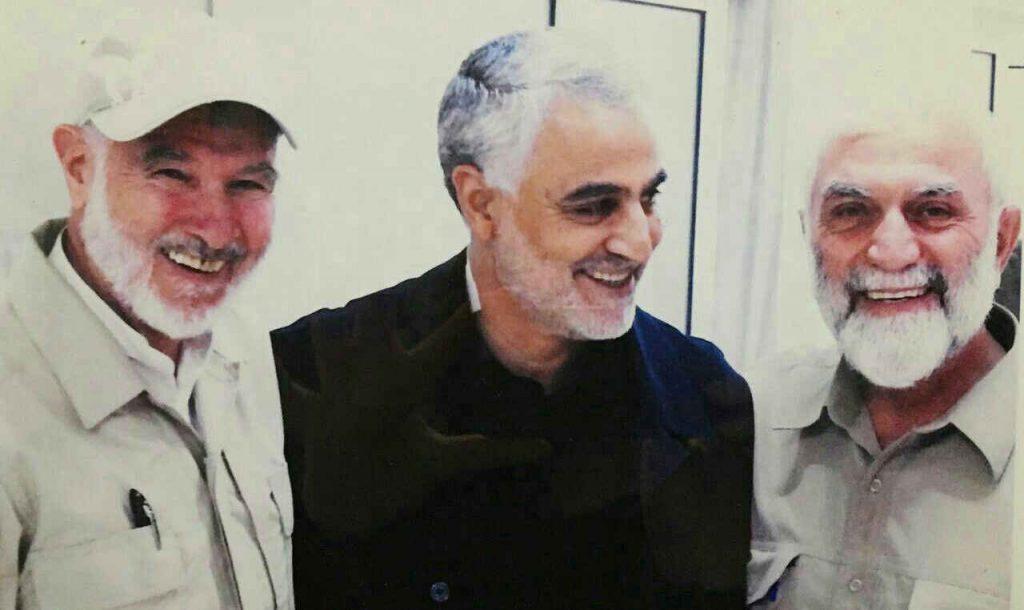 سردار قاسم سلیمانی در کنار سردار شهید حسین همدانی
