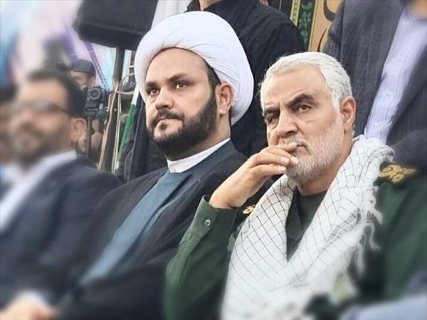سردار قاسم سلیمانی و شیخ اکرم الکعبی دبیرکل مقاومت نجباء عراق