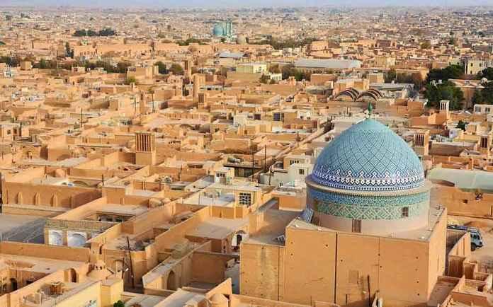 نمایی از یزد زیباترین شهر خشتی جهان